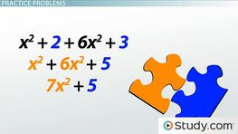 Combining Like Terms: Definition, Simplifying & Practice - Video ...
