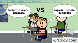 Conjugations and Alternate Conjugations of the Imperfect Subjunctive in Spanish