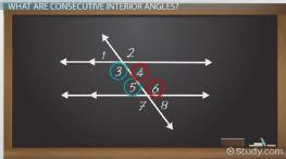Consecutive Interior Angles: Definition & Theorem