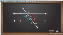 Consecutive Interior Angles: Definition U0026 Theorem   Video U0026 Lesson  Transcript | Study.com