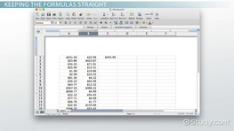 Copying Formulas with the Excel Fill Handle