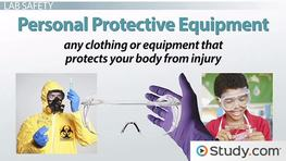 Personal Safety Equipment for the Science Lab
