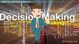 What Is a Decision Strategy in Business?