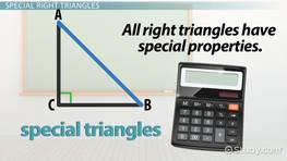 Special Triangle: Rules & Formulas