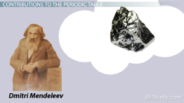 Dmitri Mendeleev & the Periodic Table: Biography, Contribution & Facts