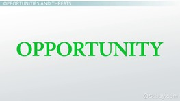 External Opportunities & Threats in SWOT Analysis: Examples & Definition