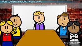 Elements of Effective Meeting Management