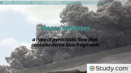 The Flow of Pyroclastic Materials