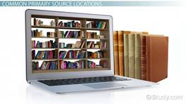 Where to Find Primary Sources: Helping Students with Research