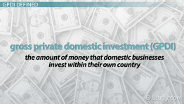 Gross Private Domestic Investment: Definition & Formula