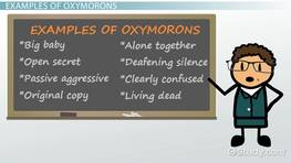 Oxymoron Lesson for Kids: Definition & Examples