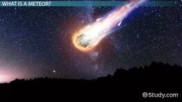 Meteor Facts: Lesson for Kids