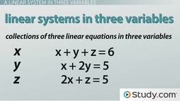 How to Solve a Linear System in Three Variables With a Solution