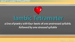 Iambic Tetrameter: Definition & Examples