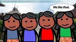 Mechanical Solidarity: Definition & Examples