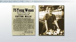 The Lowell Mill Girls & Their Working Conditions
