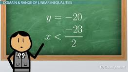 Finding the Domain & Range of Functions with Inequalities