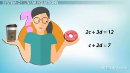 System of Linear Equations: Definition & Examples