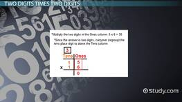 Multiplying by Two & Three Digit Numbers: Lesson for Kids