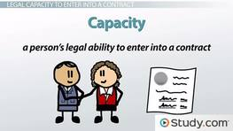 Legal Capacity to Enter a Contract: Definition & Examples