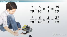 Order of Operations with Fractions