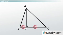 Median, Altitude, and Angle Bisectors of a Triangle