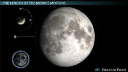 Motion of the Moon: Sidereal Month vs. Synodic Month