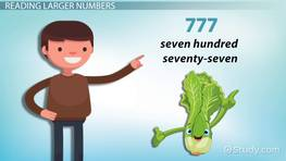 How to Read & Write Numbers Up to Six Digits: Lesson for Kids