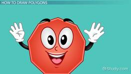 Drawing Polygons & Diagonals of Polygons: Lesson for Kids