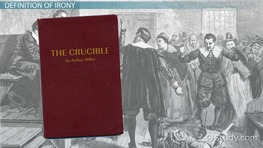 an analysis of the use of irony in the crucible by arthur miller Examine miller's presentation of john proctor and the circumstances which lead to his choosing to be executed although the events of the play are based on events that took place in.