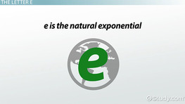 Natural Log: Rules & Properties - Video & Lesson Transcript ...