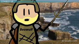how does beowulf show courage
