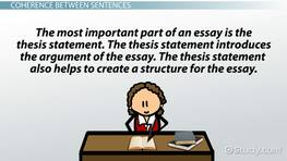 Essays About Business Coherence In Writing Definition  Examples Essay On Health Awareness also Romeo And Juliet Essay Thesis Thesis Statement Examples For Research Papers  Video  Lesson  Business Plan Essay
