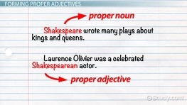 What Are Proper Adjectives? - Definition & Examples
