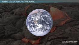 relationship between mid ocean ridge seafloor spreading video