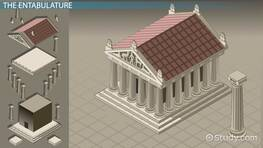 Greek Temple: Architecture, Construction & Parts