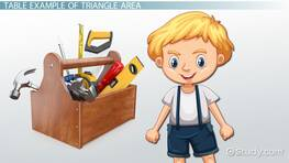 How to Find the Area of a Triangle: Lesson for Kids