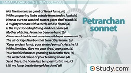 Petrarchan Sonnet: Rhyme Scheme, Format & Example Poems