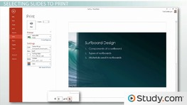 Printing in PowerPoint: Handouts, Selections, and Notes