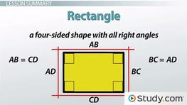 Properties of Shapes: Rectangles, Squares and Rhombuses