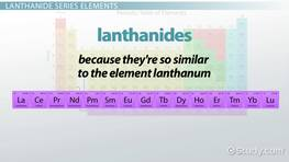 Lanthanide Series: Elements & Periodic Table