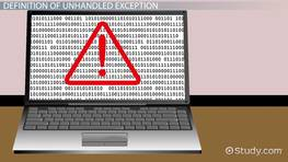 What is an Unhandled Exception?