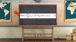 Laplace Expansion Equation & Finding Determinants