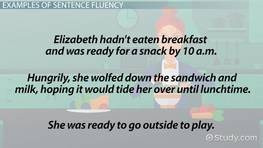 What is Sentence Fluency? - Definition & Examples