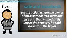 Sale-Leaseback: Definition, Advantages & Disadvantages