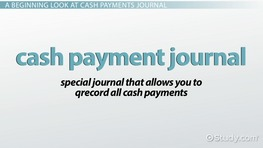 Cash Payments Journal: Definition & Example
