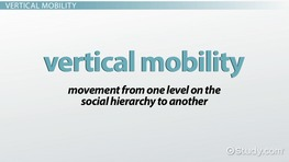 Vertical Mobility in Sociology: Definition & Concept
