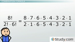 Math Combinations: Formula and Example Problems