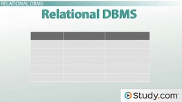 Models of Database Management Systems (DBMS)