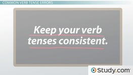 Identifying Errors of Verb Tense